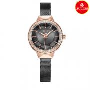 Đồng hồ nữ Julius Ja1043 dây thép đen