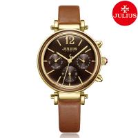 Đồng hồ nữ JULIUS JA-958 dây da nâu mặt nâu