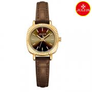 Đồng hồ nữ Julius Ja1056 dây da nâu