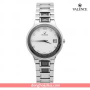ĐỒNG HỒ nữ VALENCE  VC008 dây thép mặt trắng