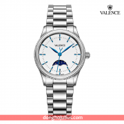 ĐỒNG HỒ nữ VALENCE  VC068 dây thép mặt trắng