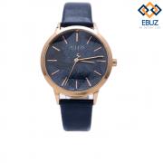 Đồng hồ nữ JULIUS JA977 dây da (xanh đen)