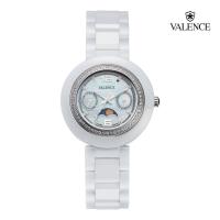 ĐỒNG HỒ nữ  VALENCE VC014 dây Ceramic màu trắng