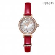 ĐỒNG HỒ NỮ JULIUS STAR JS012 dây da đỏ
