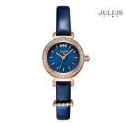 ĐỒNG HỒ NỮ JULIUS STAR JS012 dây da xanh