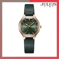 ĐỒNG HỒ Nữ JULIUS STAR JS008 dây da xanh rêu