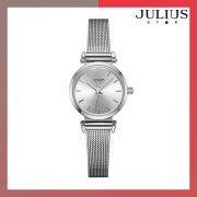 ĐỒNG HỒ Nữ JULIUS STAR JS001 dây thép bạc