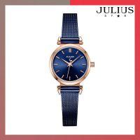 ĐỒNG HỒ Nữ JULIUS STAR JS001 dây thép xanh