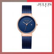 ĐỒNG HỒ Nữ  JULIUS STAR JS009 dây thép xanh đen