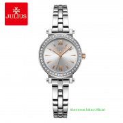 Đồng hồ Julius nữ JA1124A dây thép bạc