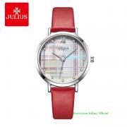 Đồng hồ Julius nữ JA1133 dây dây da đỏ
