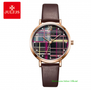 Đồng hồ Julius nữ JA1133 dây dây da nâu