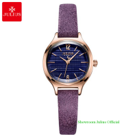 Đồng hồ Julius nữ JA1131 dây dây da tím