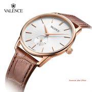 ĐỒNG HỒ NAM VALENCE VC077 dây da nâu kính sapphire