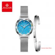 Đồng hồ Julius nữ JA1147 dây thép bạc
