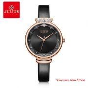 Đồng hồ Julius nữ JA1140 dây da đen