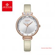 Đồng hồ Julius nữ JA1140 dây da trắng kem