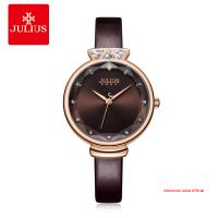 Đồng hồ Julius nữ JA1140 dây da nâu