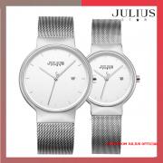ĐỒNG HỒ Cặp JULIUS STAR JS009 dây thép đe bạc