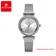 Đồng hồ Julius nữ JA1141 dây thép bạc