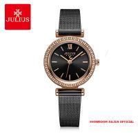 Đồng hồ Julius nữ JA1141 dây thép đen