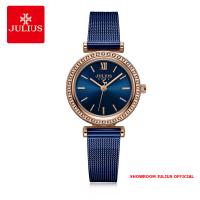 Đồng hồ Julius nữ JA1141 dây thép xanh