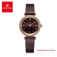 Đồng hồ Julius nữ JA1141 dây thép nâu