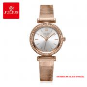 Đồng hồ Julius nữ JA1141 dây thép vàng đồng