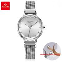 Đồng hồ Julius nữ JA1143 dây thép bạc
