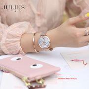 ĐỒNG HỒ Nữ JULIUS STAR JS003 dây đồng mặt xà cừ