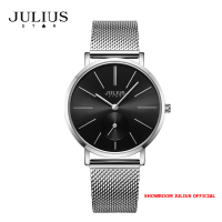 ĐỒNG HỒ Nữ  JULIUS STAR JS022 kính sapphire (mặt đen)