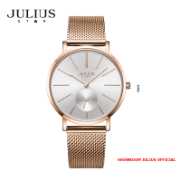 ĐỒNG HỒ Nữ  JULIUS STAR JS022 kính sapphire (vàng đồng) - Size 36