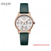 ĐỒNG HỒ Nữ  JULIUS STAR JS023 kính sapphire dây da xanh