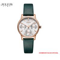 ĐỒNG HỒ Nữ  JULIUS STAR JS023 kính sapphire dây da xanh - Size 28
