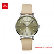 Đồng hồ Julius nữ JA1149 dây da màu da