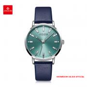 Đồng hồ Julius nữ JA1149 dây da xanh