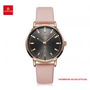 Đồng hồ Julius nữ JA1149 dây da hồng