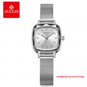Đồng hồ Julius nữ JA1148 dây thép bạc