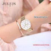ĐỒNG HỒ Nữ 6 kim JULIUS STAR JS005 dây thép vàng