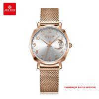 Đồng hồ Julius nữ JA1146 dây thép vàng đồng