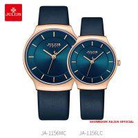 Đồng hồ cặp Julius JA1156 dây da xanh đen