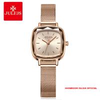 Đồng hồ Julius nữ JA1148 dây thép vàng đồng