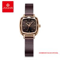 Đồng hồ Julius nữ JA1148 dây thép nâu