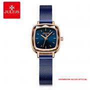 Đồng hồ Julius nữ JA1148 dây thép xanh