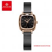 Đồng hồ Julius nữ JA1148 dây thép đen