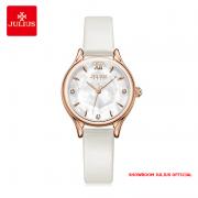 Đồng hồ nữ Julius JA1154 dây da trắng