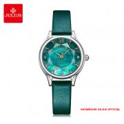 Đồng hồ nữ Julius JA1154 dây da xanh