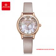 Đồng hồ nữ Julius JA1154 dây da màu da - Size 29
