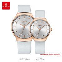 Đồng hồ cặp Julius JA1156 dây da trắng