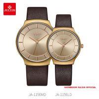 Đồng hồ cặp Julius JA1156 dây da nâu